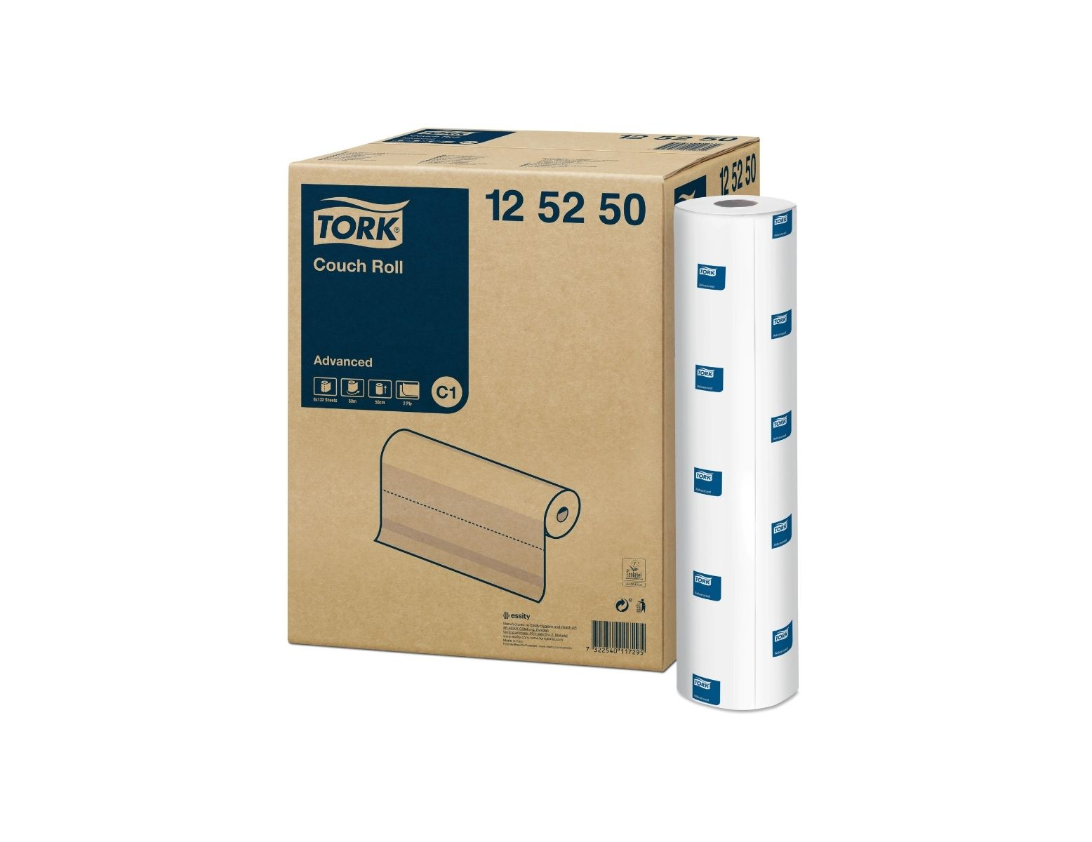 Onderzoekstafel papierrollen Tork / massagetafel - rol 50 cm x 50 m (9 st)